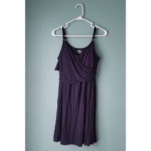 Clip Down Nursing Nightgown - Navy Blue